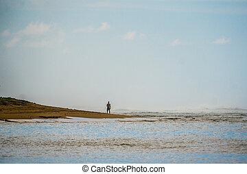 solitary man, beach