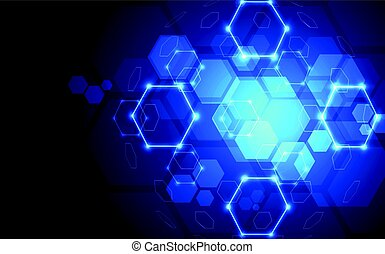 Abstract plexus connections background with technology concept, vector illustration