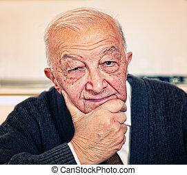 confident old man portrait