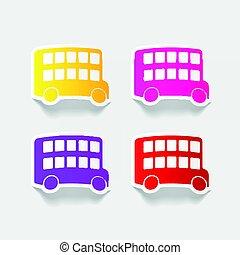 realistic design element: bus double decker