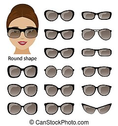 Spectacle frames and round face