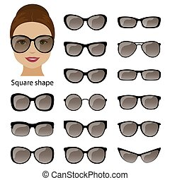 Spectacle frames and square face