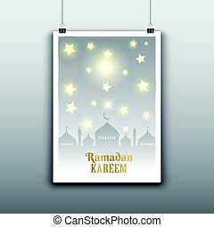 ramadan poster 1205 - Decorative hanging poster for Ramadan
