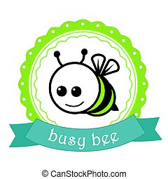 Bussy bee label