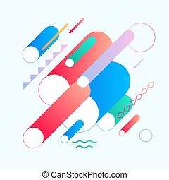 Abstract background with geometric shapes. - Applicable for...