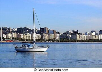Boat in Rio de Janeiro, Brazil