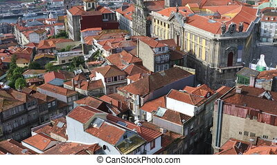 The roofs of old Porto city - The roofs old Porto city from...