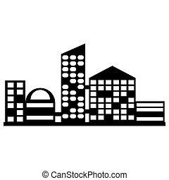 vector black city icon