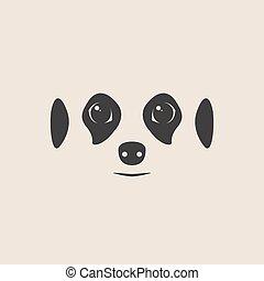 Meerkat face. Meerkat mascot idea for logo, emblem, symbol,...