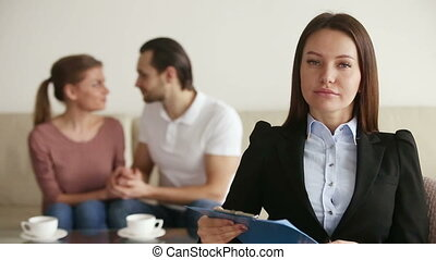 Portrait of professional relationship therapist - Portrait...