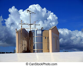 Water tank on the roof
