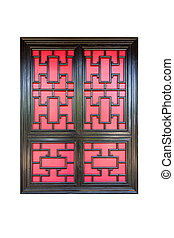 traditional chinese window isolated - traditional chinese...