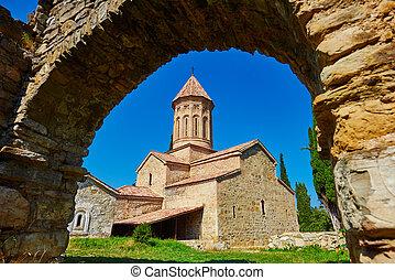 Géorgie, kakheti, orthodoxe, monastère, ikalto, complexe,...