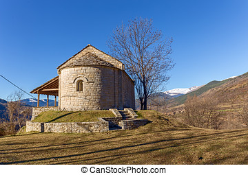 Santa Magdalena romanesque chapel dated on XII century in...