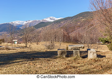 Picnic area in the catalan Pyrennes