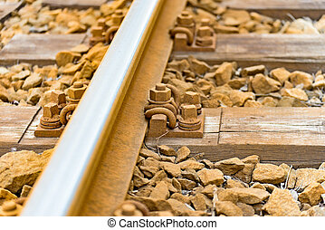 Fixing of tracks for a train