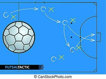 Ilustración, estrategia, juego,  vector,  plan,  futsal