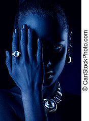diamond jewelry luxury - Fashion jewellery concept. Portrait...