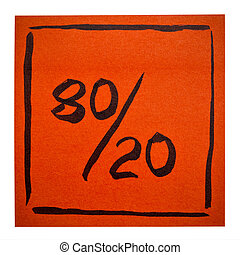 Pareto principle on isolated sticky note