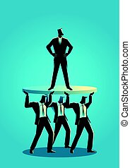 Businessman supported by business colleagues - Business...