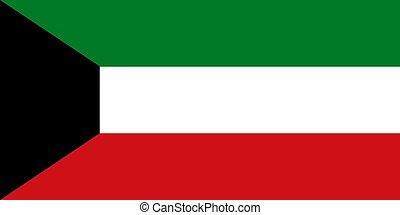 Flag of Kuwait, vector illustration