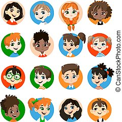 Kids avatar collection.