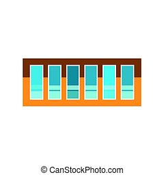 House window element flat style frame domestic contemporary...