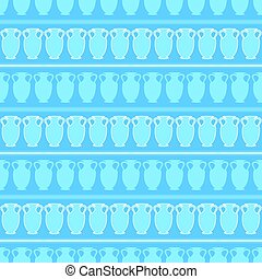 seamless pattern with amphora. vector - blue seamless...