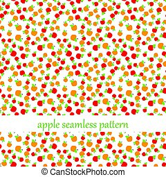 seamless pattern with apples. vector