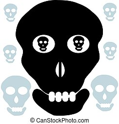 Skull isolated on white background