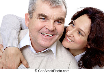 Middle aged couple - Portrait of attractive middle aged...