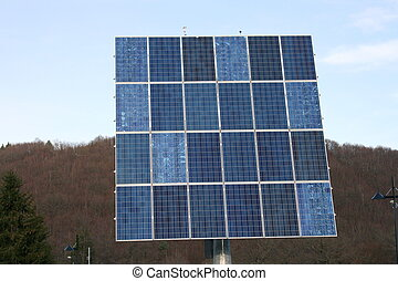 Solar Panel - tilting and rotating solar module, with...