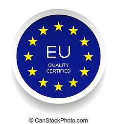 Eu Quality Certified logo sticker vector