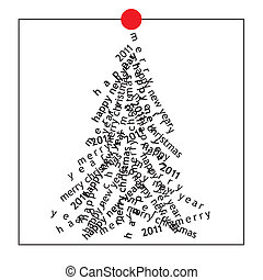 christmas card (vector)