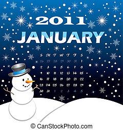 Winter Jan 2011 Calendar