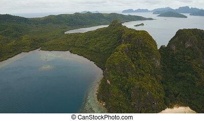 The beautiful bay aerial view. Tropical islands. - Tropical...