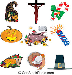 Holiday icon set 1