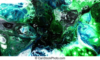 Abstract Colorful Paint Ink Explode