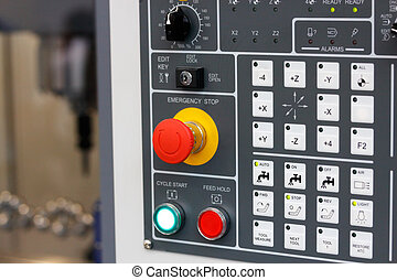 control panel of cnc milling center - Control panel of cnc...