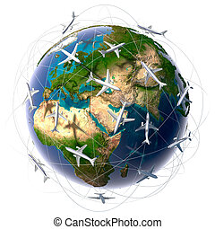 International air travel - The metaphor of international air...
