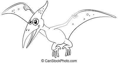 Outline animal for pterosaur illustration