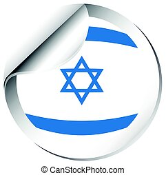 Flag of Israel in round shape