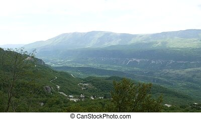 Green valley in the mountains of Montenegro.