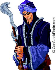 Treacherous Vizier - Illustration of Arabian Nights...