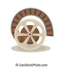 Bobbin with film - Vector illustration of spool with film on...