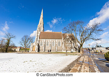 St Alban's Church Copenhagen Denmark - St Alban's Church at...