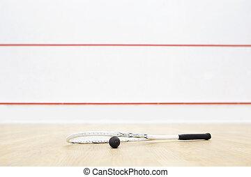 pared, equipo, líneas, rojo,  Racquetball