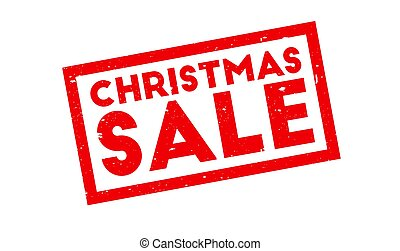 Christmas Sale rubber stamp