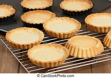 Cooking Process Of Tartlets. Baked Shortcrust Pastry. -...