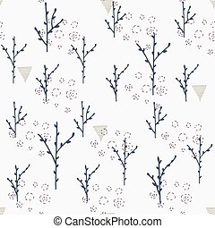 Branch seamless pattern.